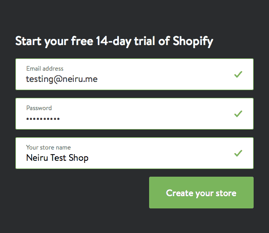 Sign Up Shopify With Your Email